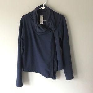 Patagonia Fleece asymmetrical button jacket navy